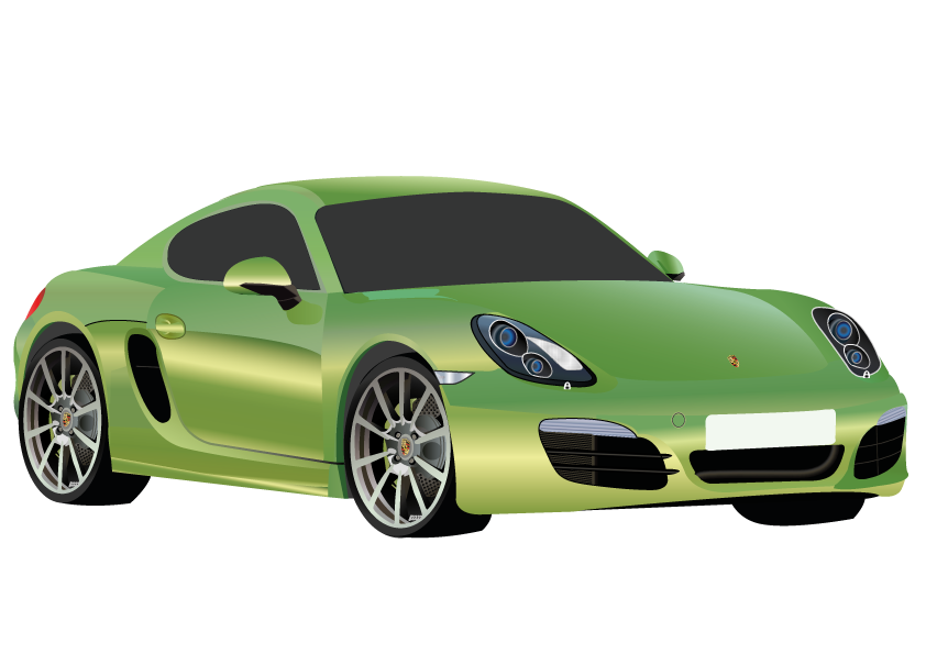 Porsche vector illustrator. Cayman by marielledr on