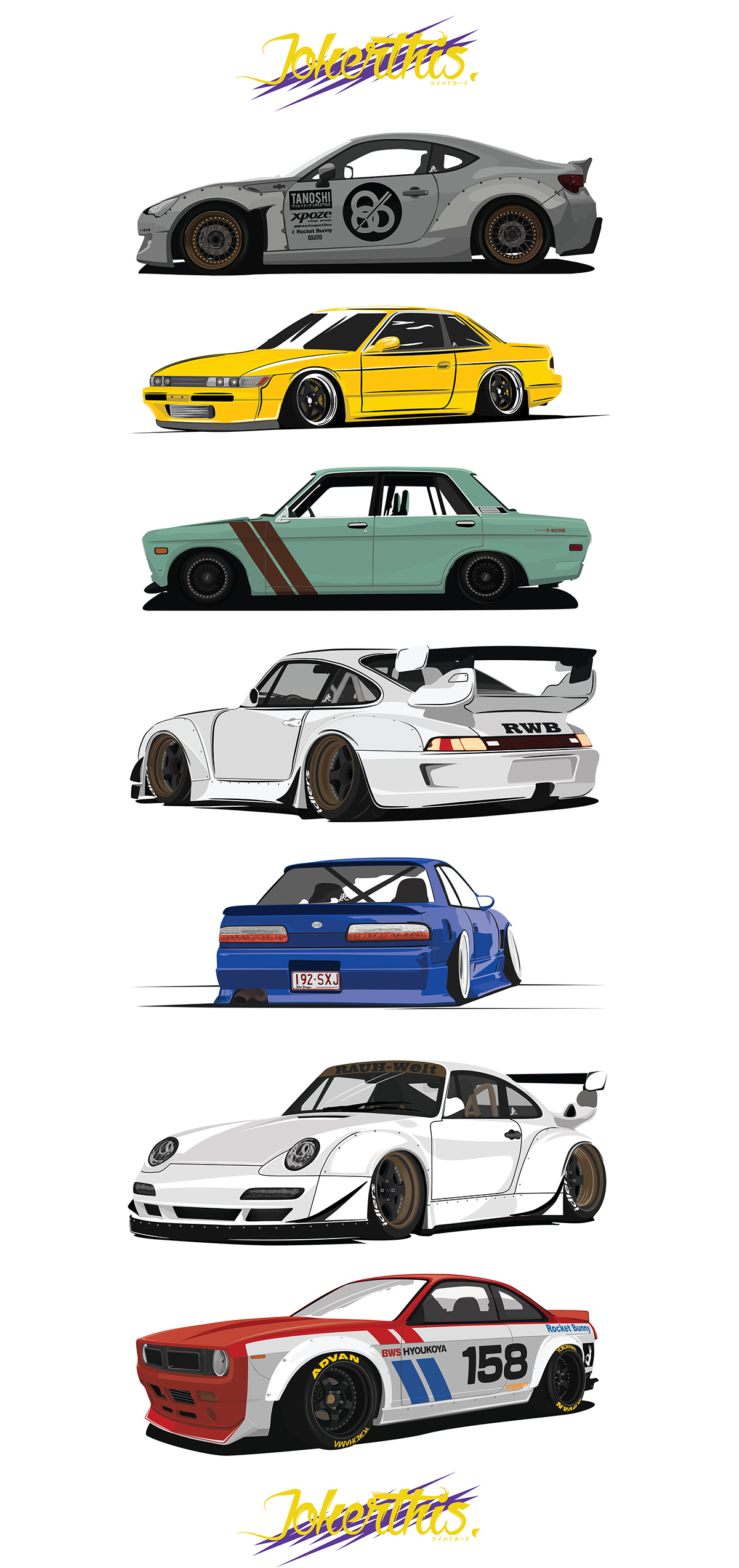 Porsche vector rwb. Here s some finished