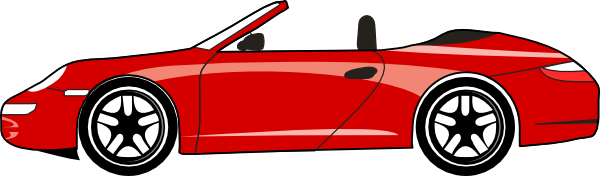 Porsche vector outline. Red carrera gt clip