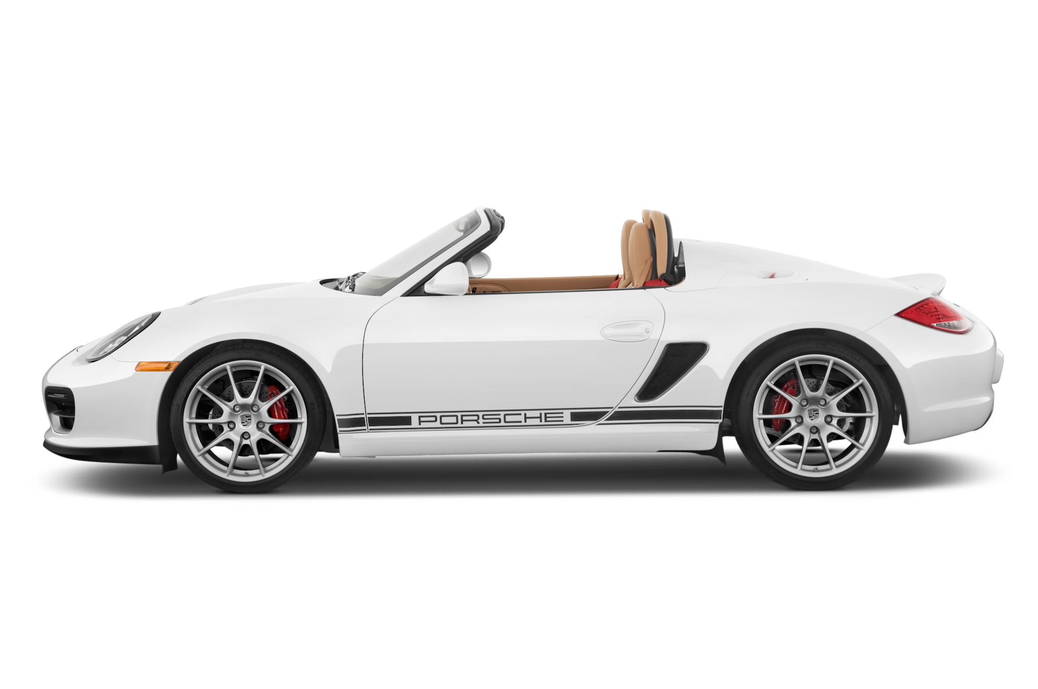 Porsche vector side view. Unveils the boxster spyder