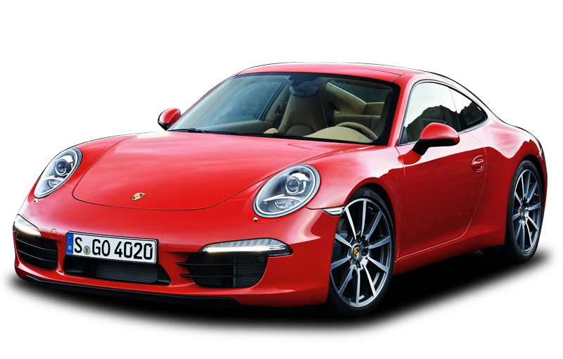 Porsche vector psd. Transparent background png clipart