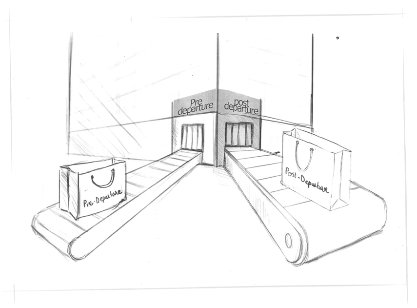 Port drawing sketch. Hs cont website designing