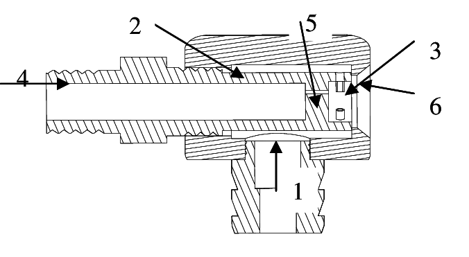 Port drawing water. Schematic of the atomizer