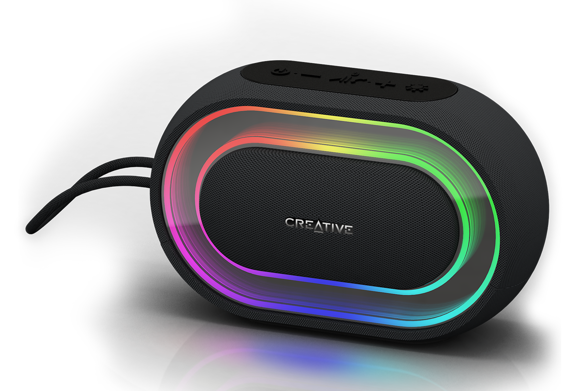 Portable speaker png. Creative halo bluetooth with
