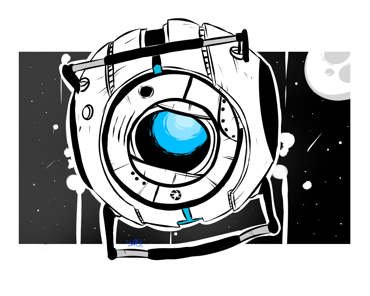 Portal 2 funnel png. Wheatley by bylika deviantart