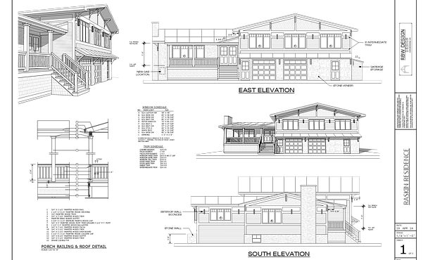 Portfolio drawing house. Vermont home design residential