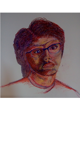 Portfolio drawing self portrait. Home visual art s