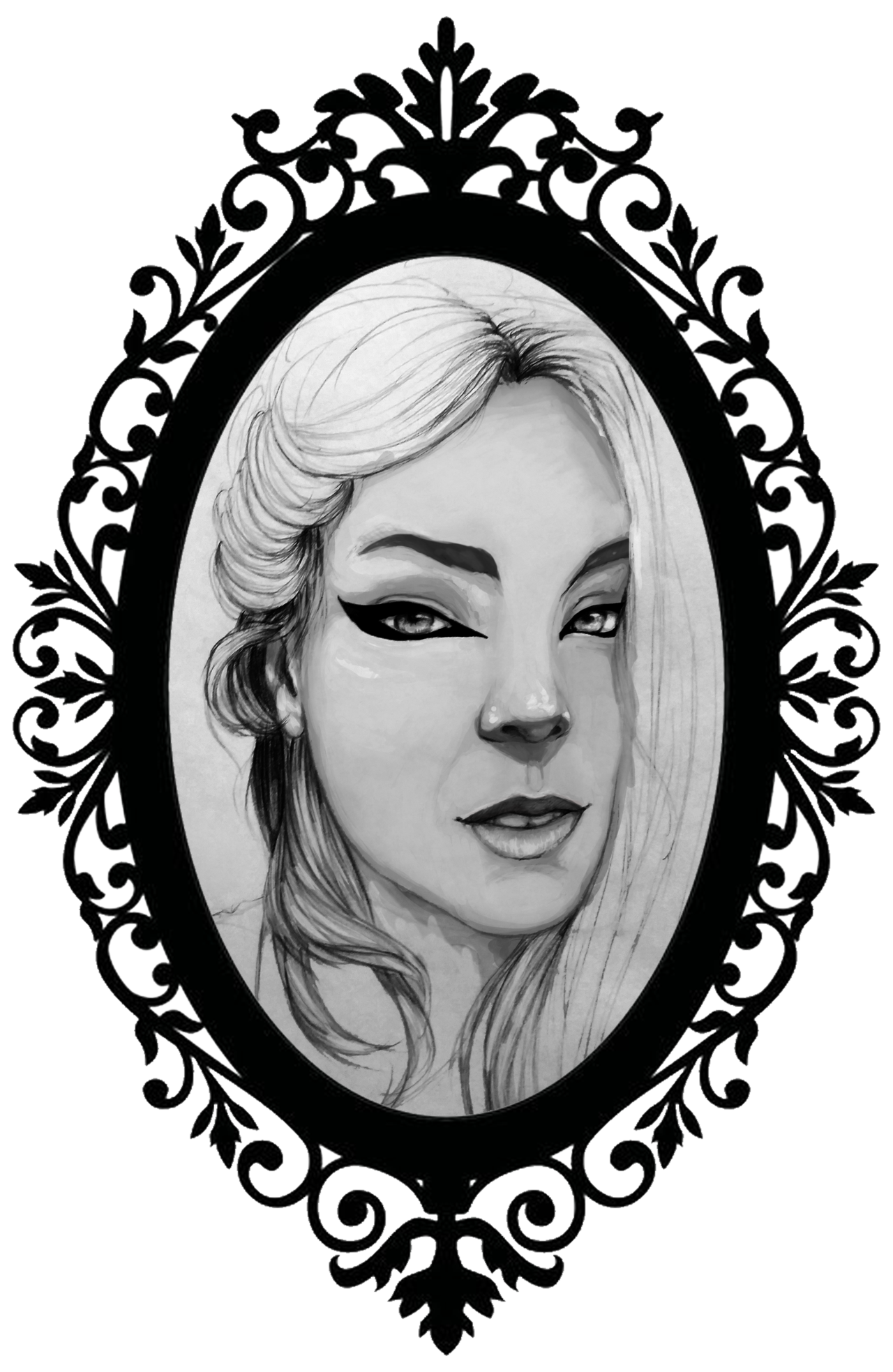 Portraits drawing black and white. Portrait practice suzy by