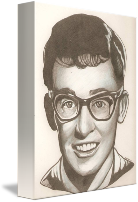 Portraits drawing face. Buddy holly by rob