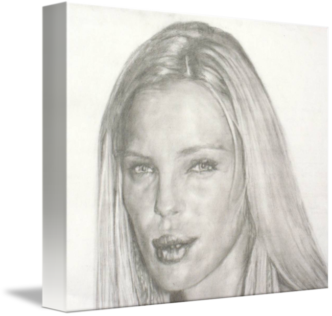 Portraits drawing face. Esther canadas by gift