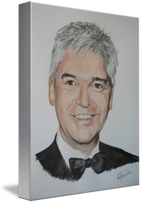 Portraits drawing half. Phillip schofield by roger