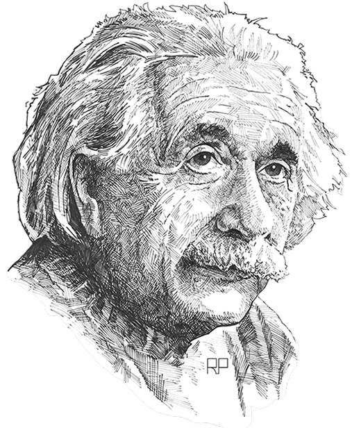 Portraits drawing ink. Pen
