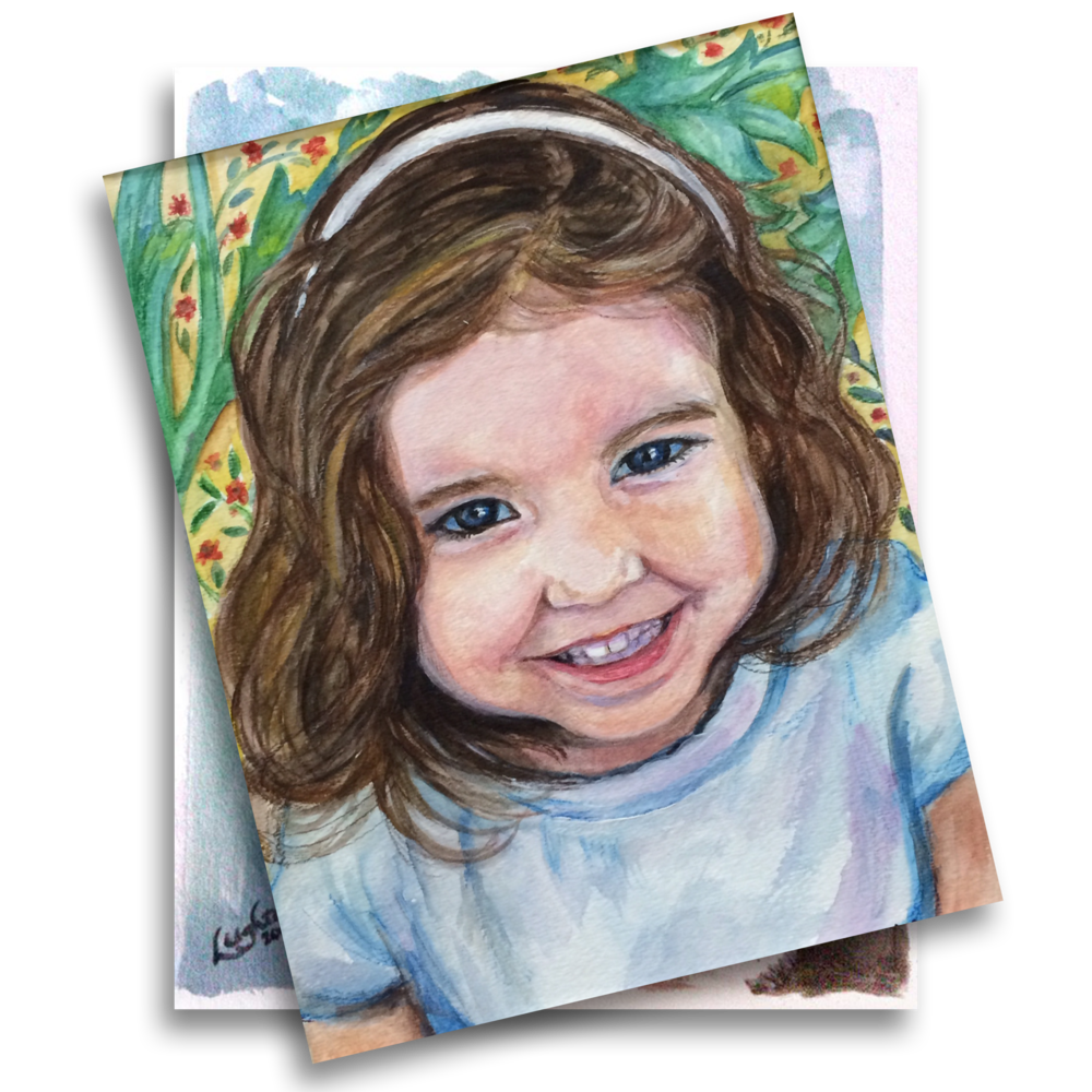 Portraits drawing little girl. Leighton isaacs portrait paintings