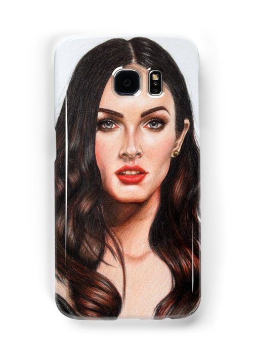 Portraits drawing makeup. Dessin de megan fox