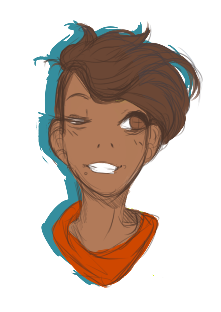 Portraits drawing messy. Sketch png by anurkianapple