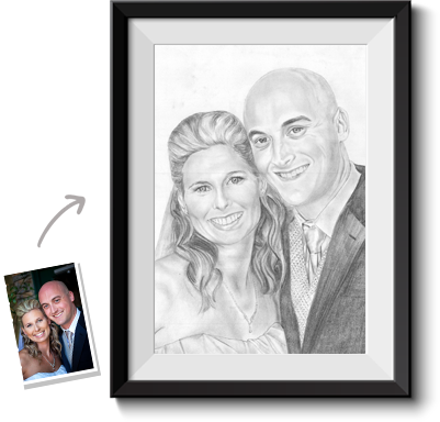 Portraits drawing pencil. Turn photos into paintings