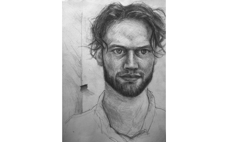 Portraits drawing side. Local artist shortlisted for