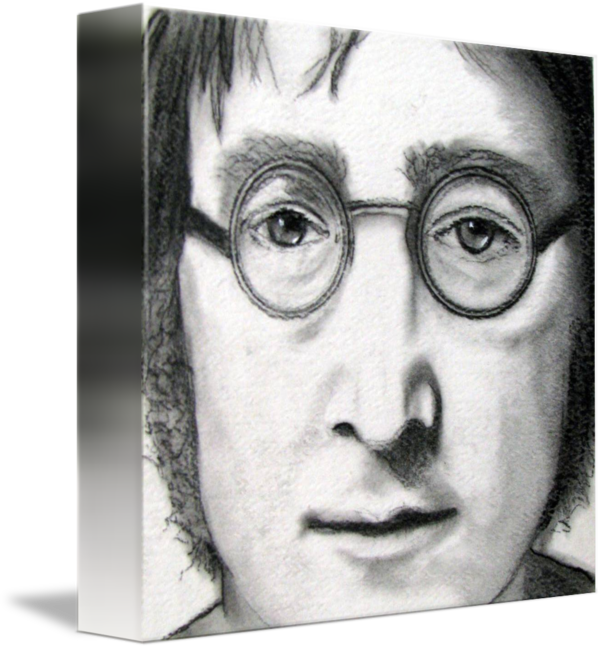 Portraits drawing surreal. John lennon by victor