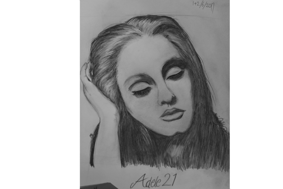 Portraits drawing. Adele from by artruntelskerillo