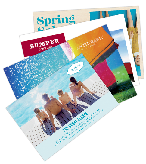 Post cards png. Direct mail printing postcards