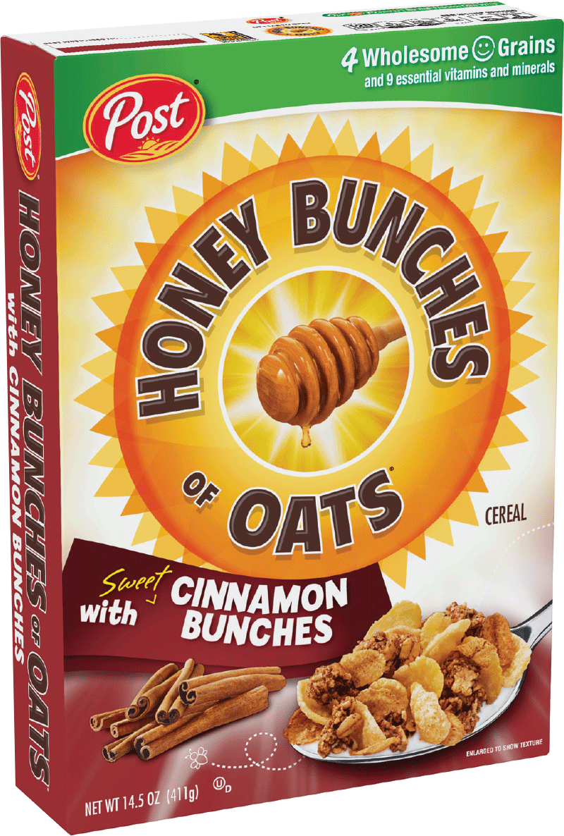 Post cereal png. Honey bunches of oats