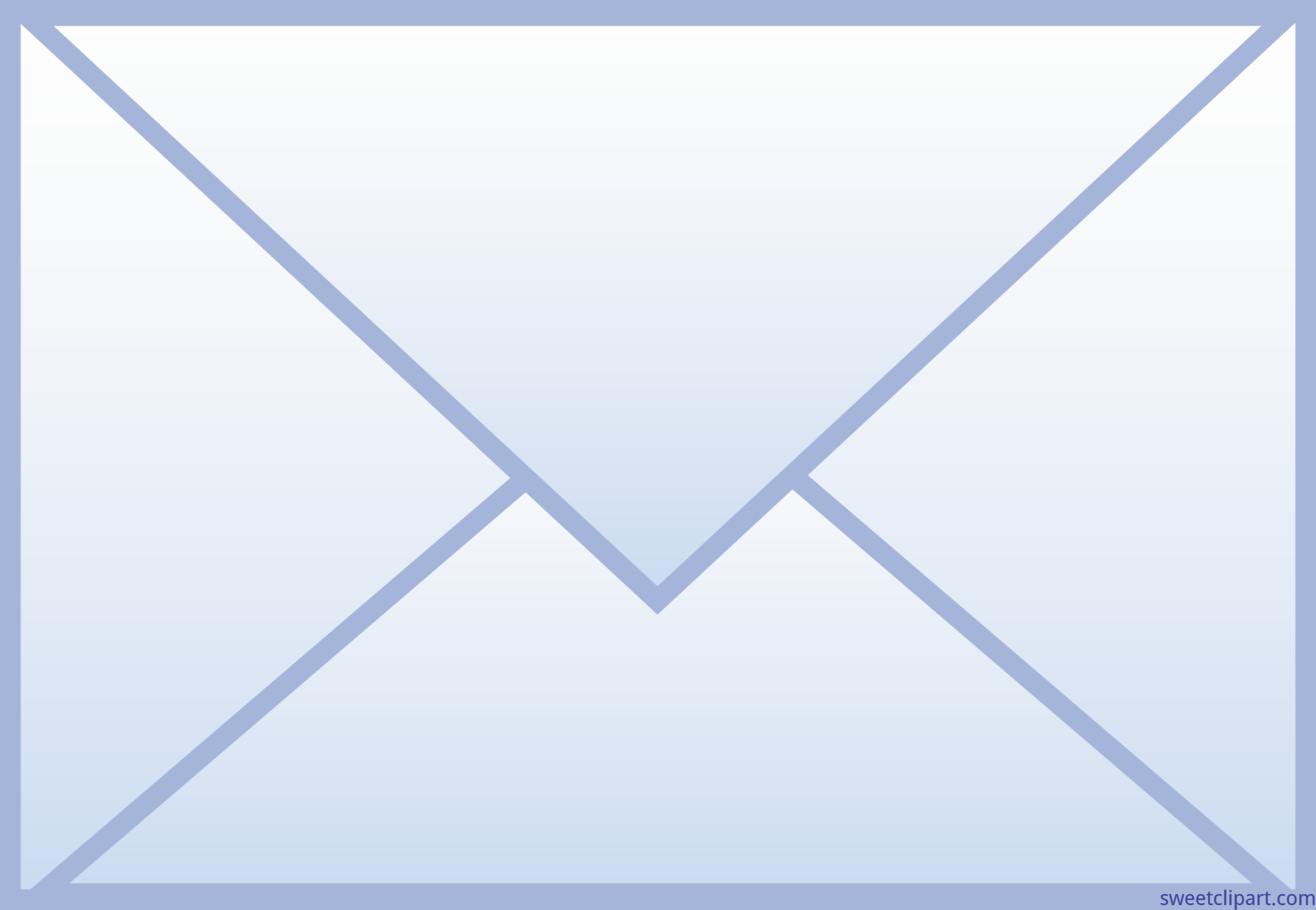 Post clipart phone email. Mail envelope blue icon