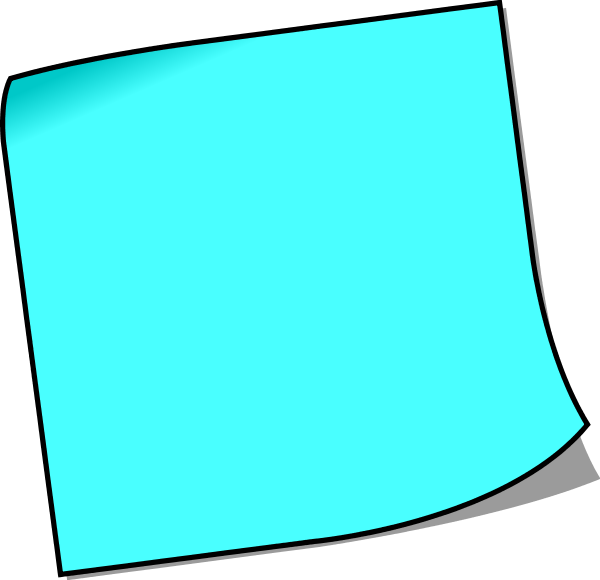 Post it blue png. Collection of colorful