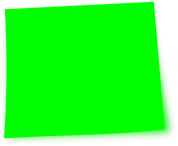 Green post it note png. Free download clip art