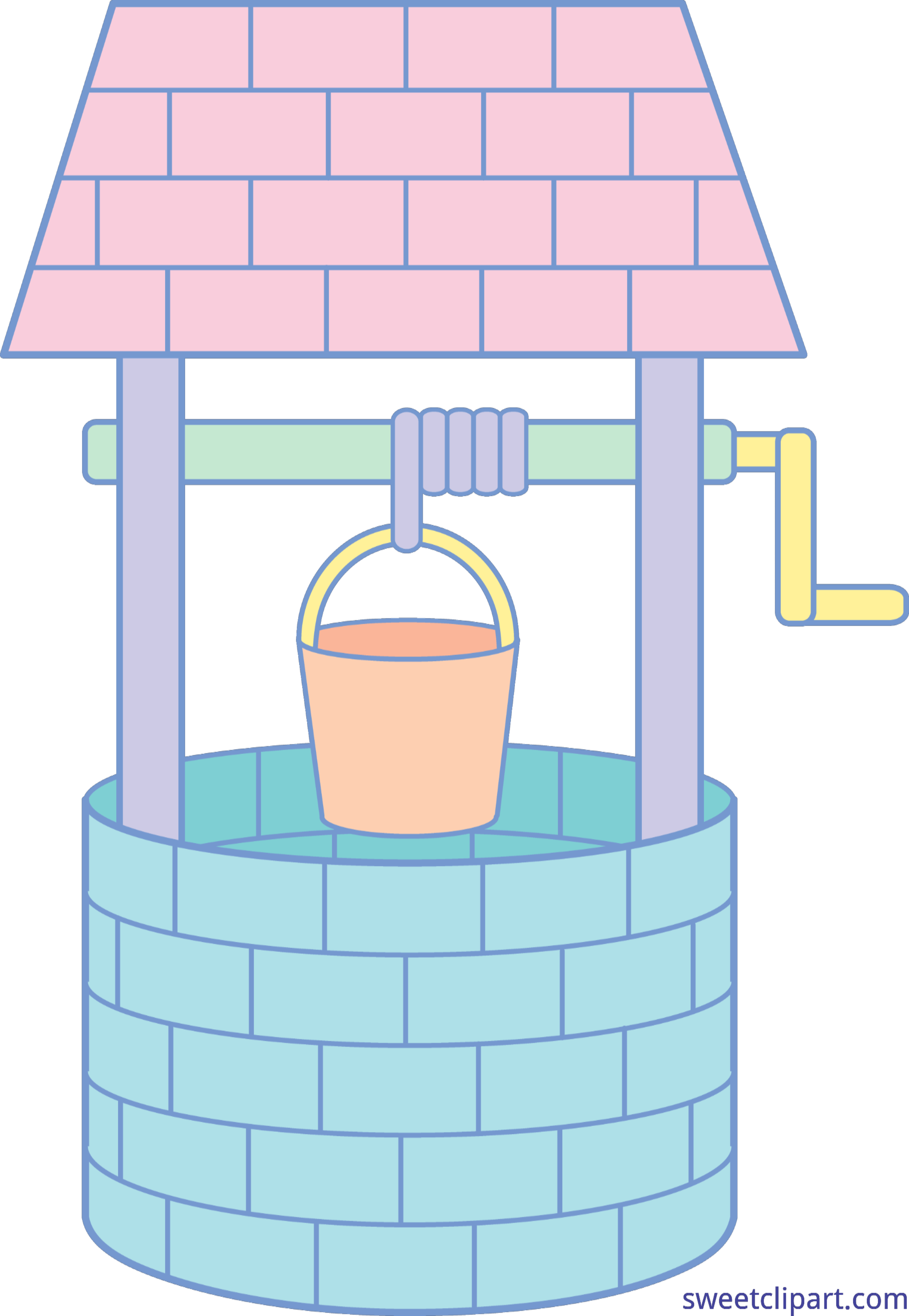 Post it clipart pastel. Wishing well clip art
