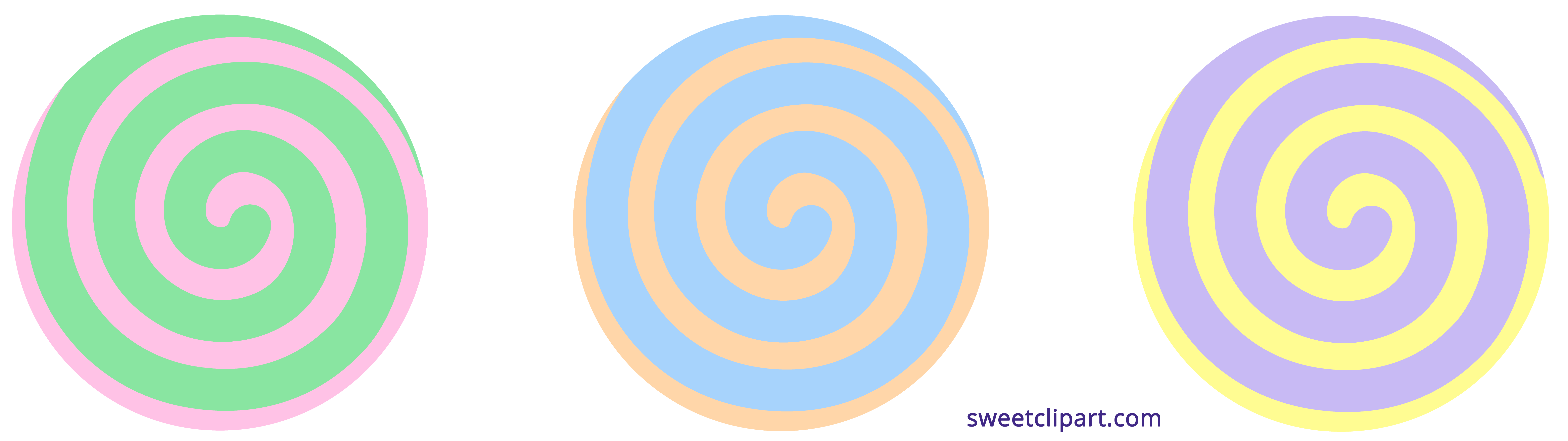 Post it clipart pastel. Spiral candy sweet clip
