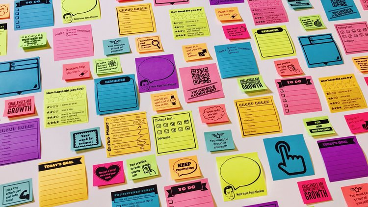 Post it clipart written note. Print custom sticky notes