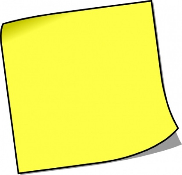 Post it clipart. Notes panda free images