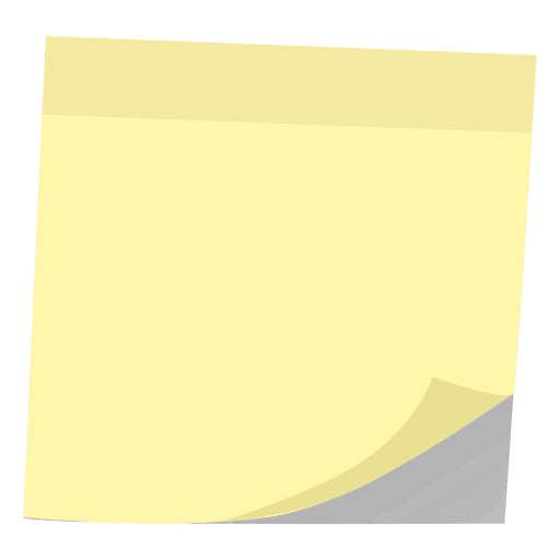 Post it note png. Yellow transparent svg vector