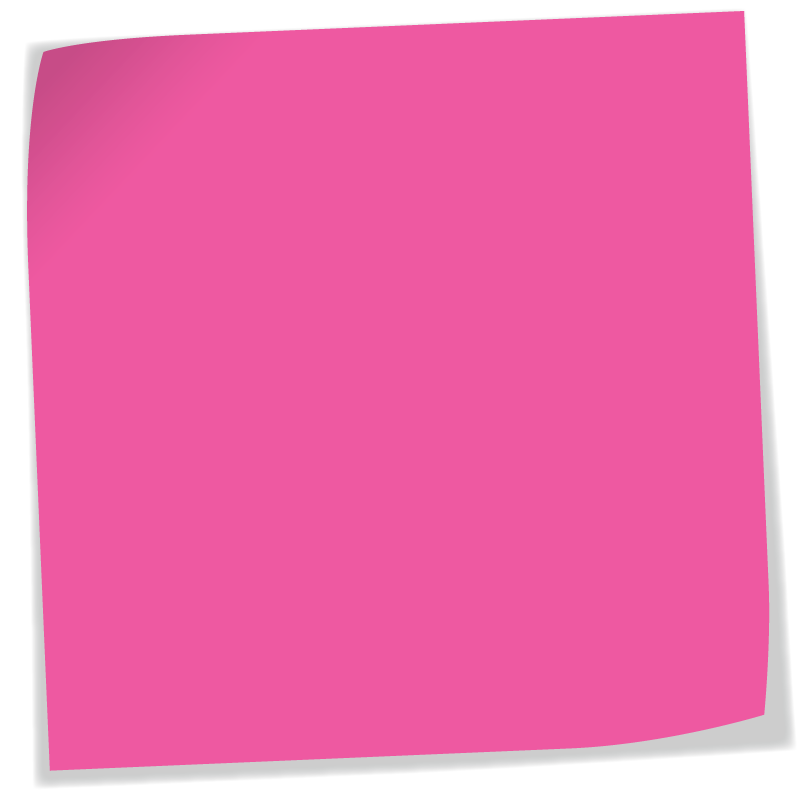 Post it note png. Pink sticky transparent background
