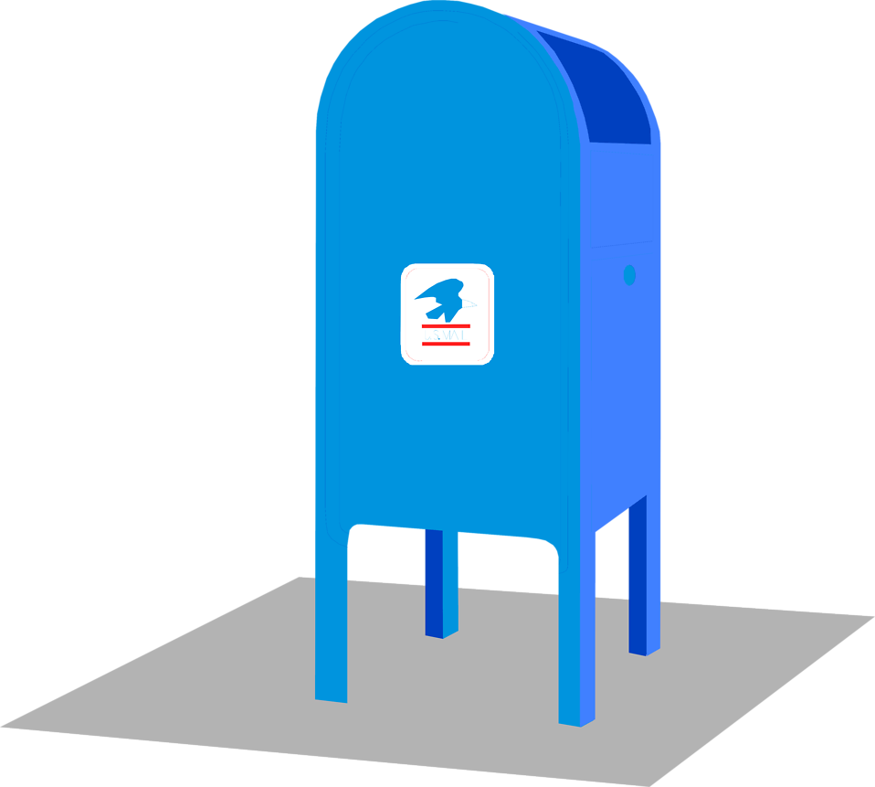 Post office mailbox png. Mail blue clipart home
