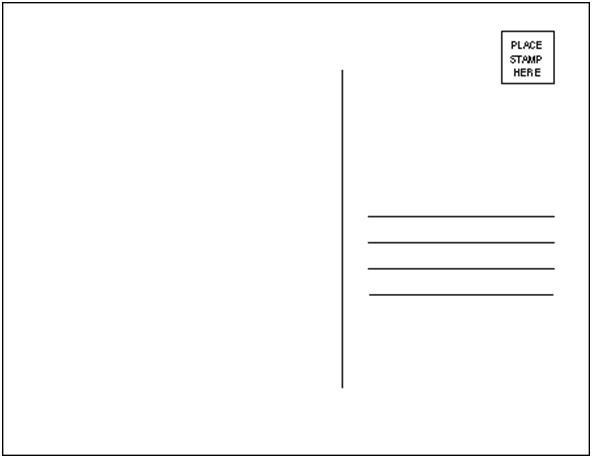 Postcard clipart plain. Card template category page