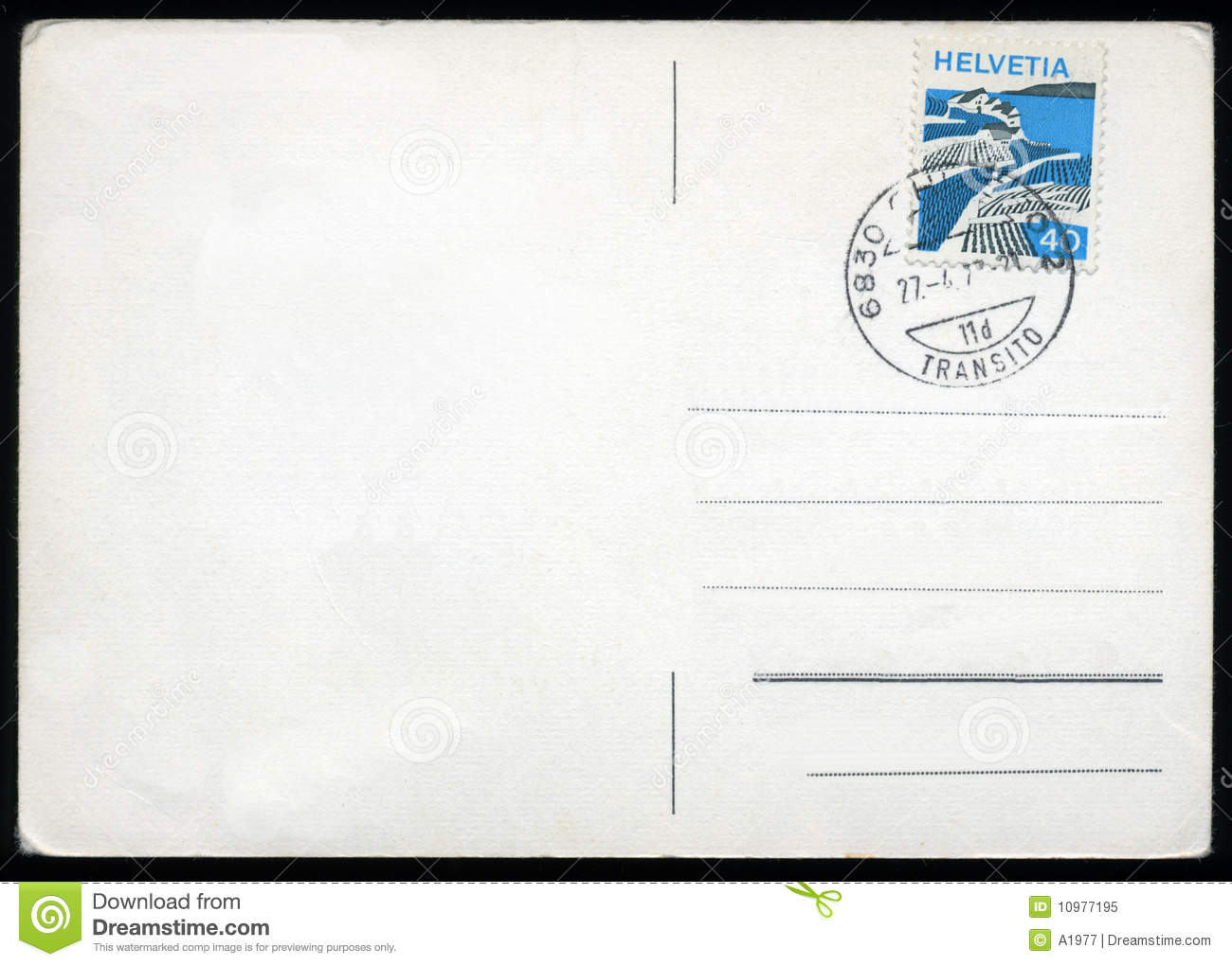 Postcard clipart plain. Blank with stamp