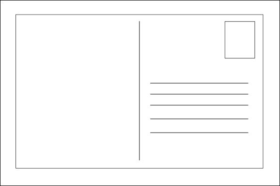 Postcard clipart postcard template. Blank blankpostcardtemplate more