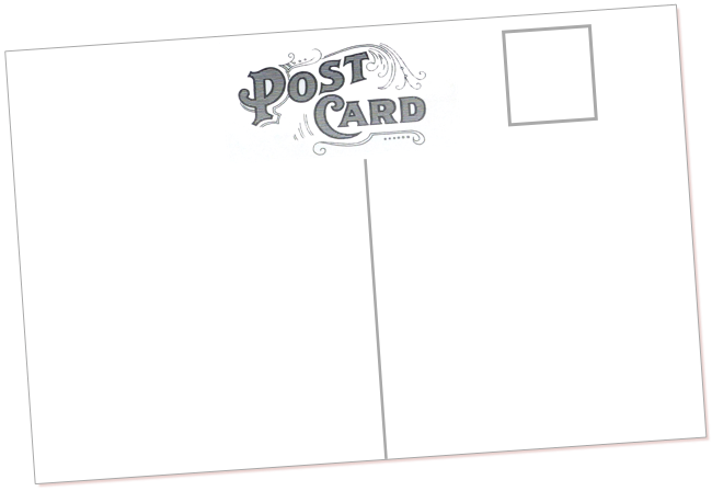 Postcard drawing. Swap uppercase box young