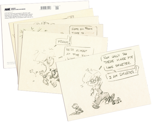 Frank and his friend. Postcard drawing jpg transparent library