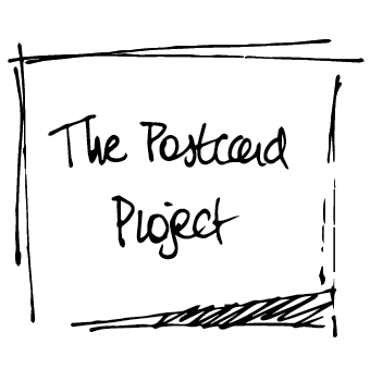 The project a mail. Postcard drawing artistic png black and white library