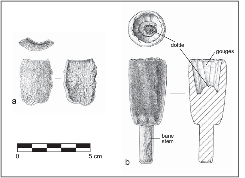 chisel drawing gouge