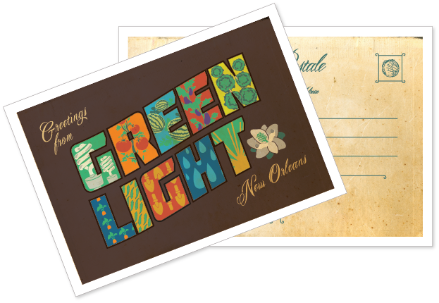 Postcard drawing paper recycling. Green printer printing services