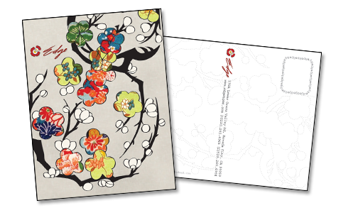 Postcard drawing post card. Promotional cards funf pandroid