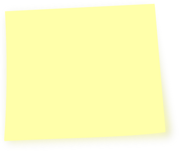 Posted note png. Light yellow post it
