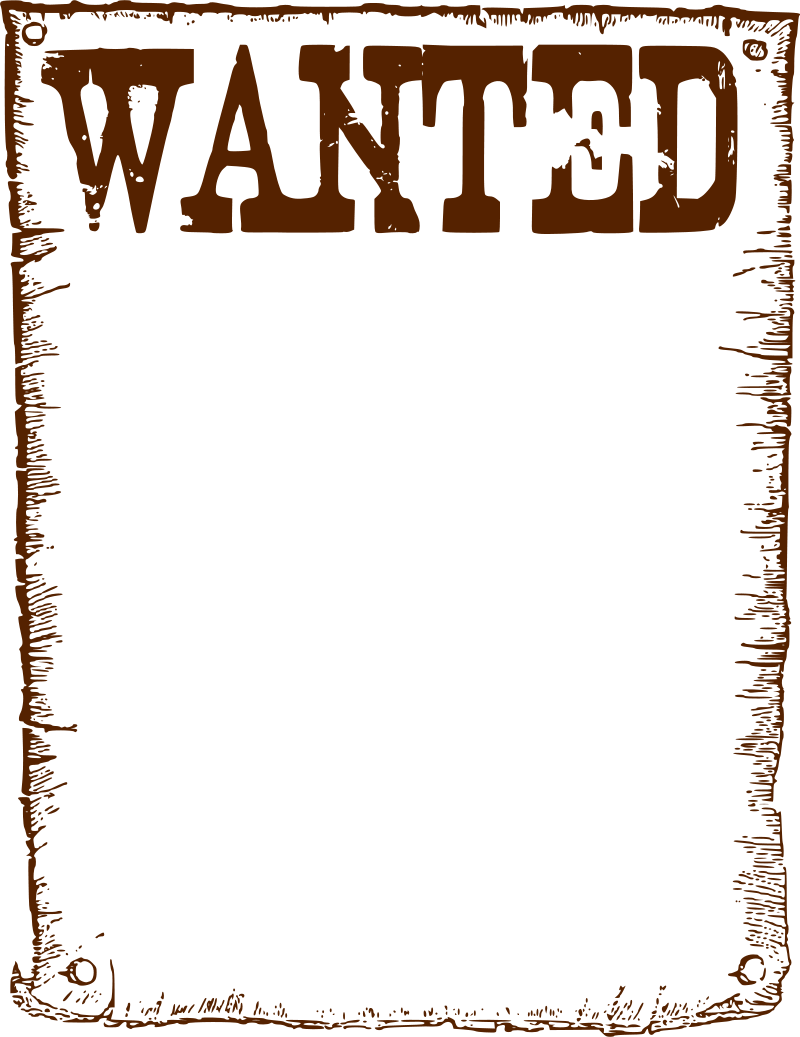 Transparent poster most wanted. Free posters cliparts download