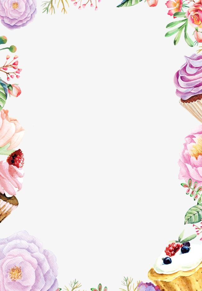 Drawing poster watercolor flowers. Boarder clipart cake clip library library