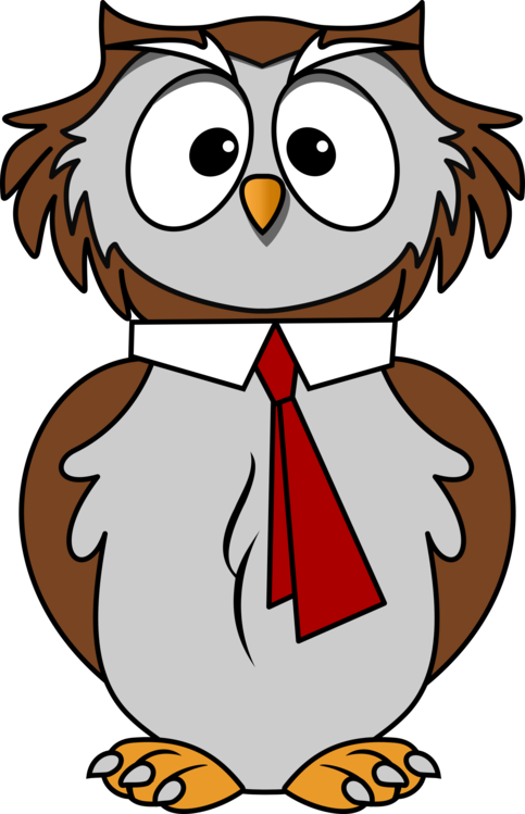 Wise owl png. Great horned cartoon a