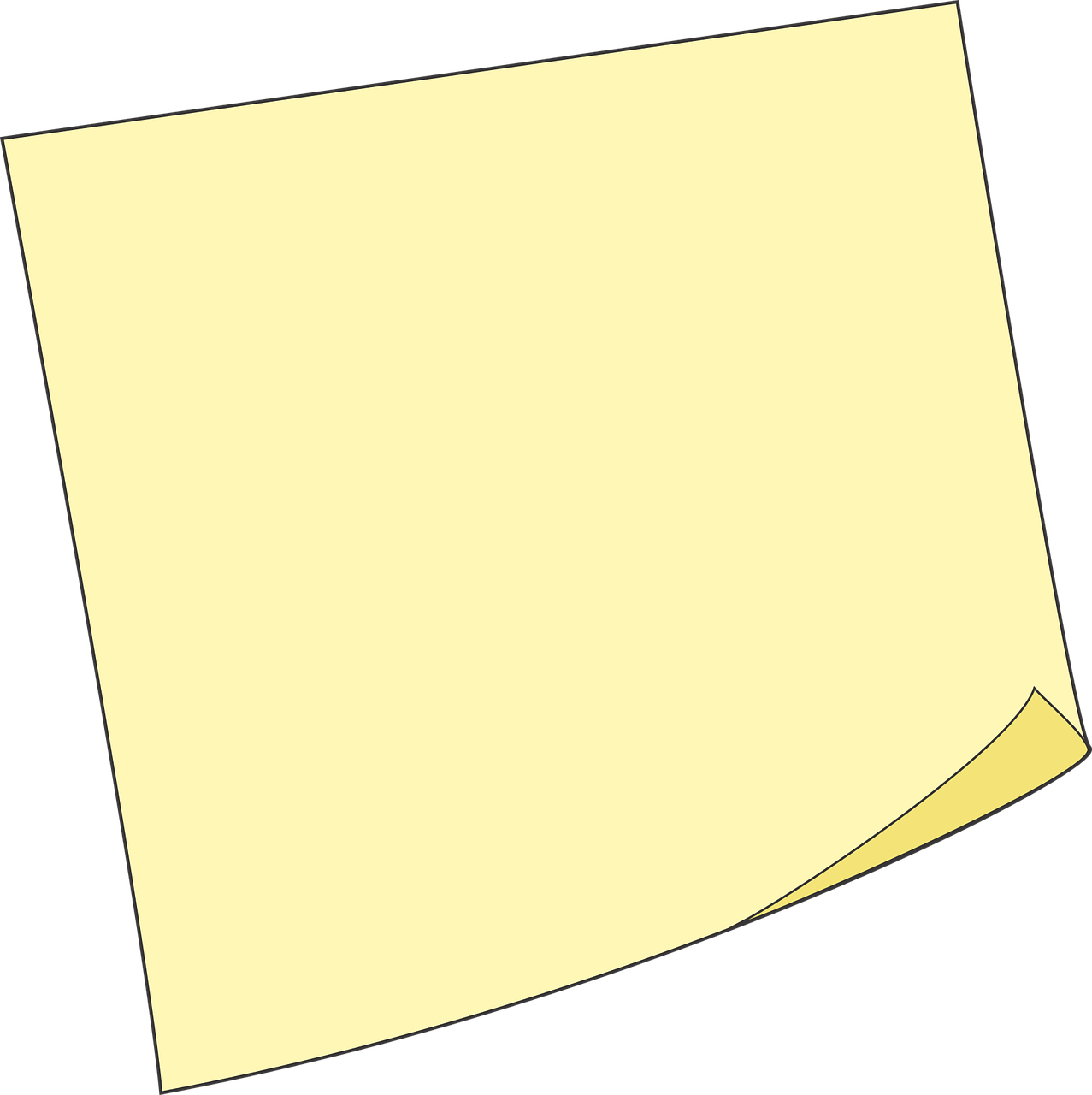 Postit vector blank. Post it sticky note