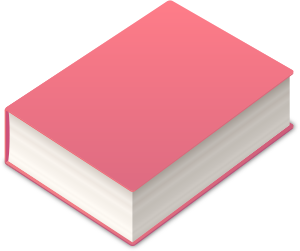 Postit vector colored paper. Book icon pink data